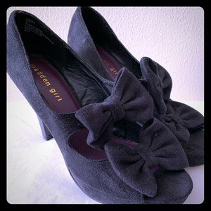 Madden Girl Black Peep Toe High Heels